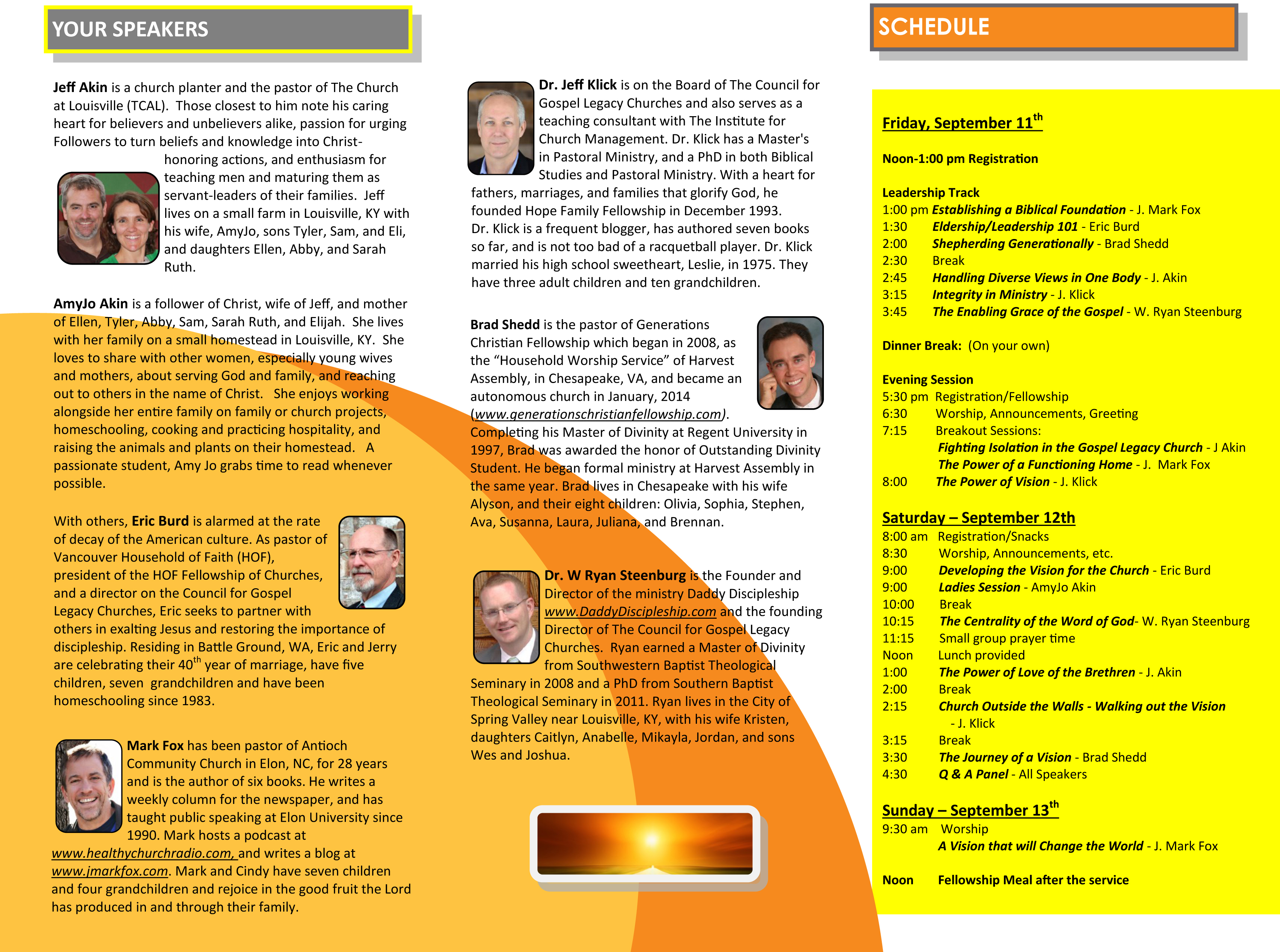 Power of Vision Conference Schedule
